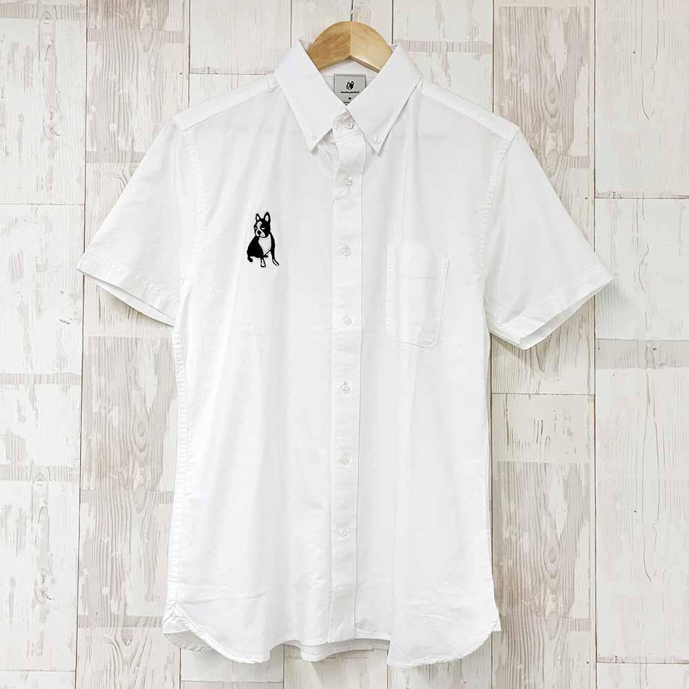 パイド半袖シャツ(ホワイト)