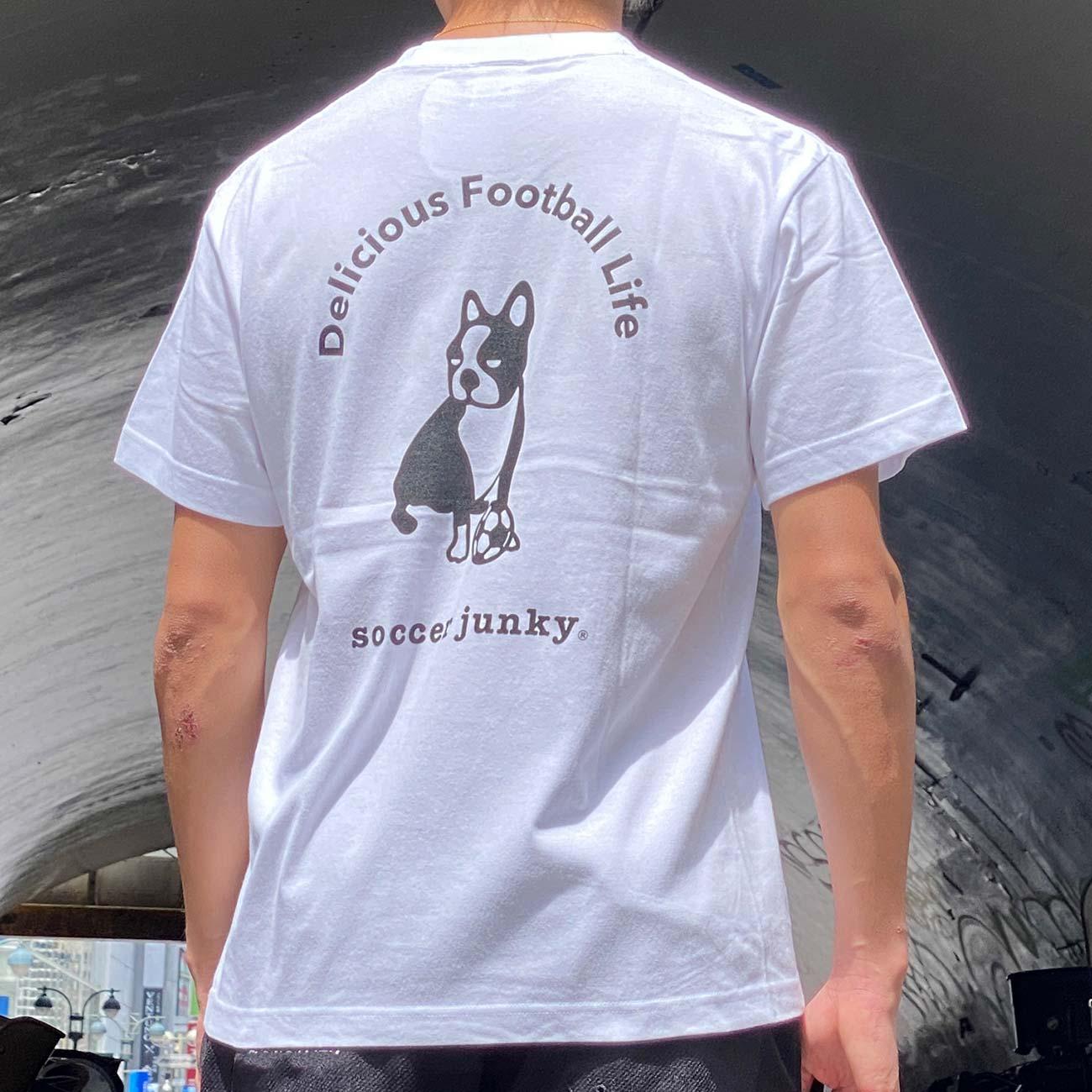 犬のロゴ半袖TEE(ホワイト)
