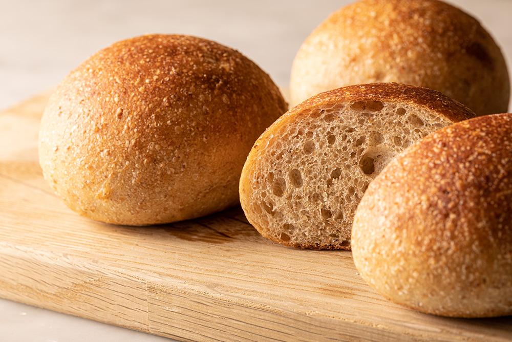 オーガニック小麦・全粒粉プチパン
