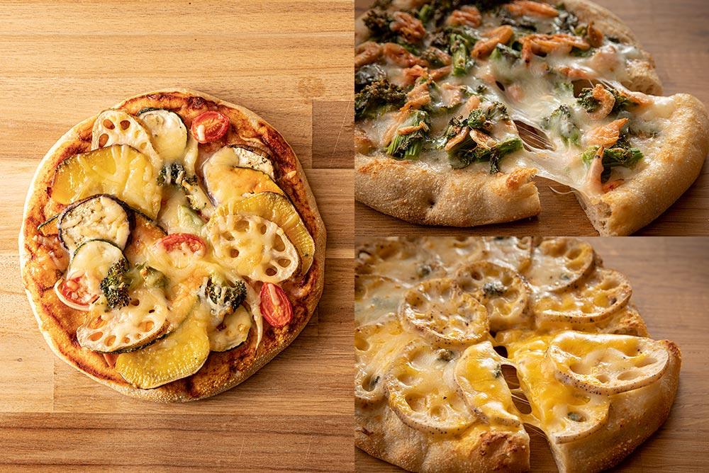 【期間限定】お野菜たっぷり3種類のピザセット