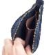 HTC L-zip Wallet Flower Suede #1 TQS N / Navy
