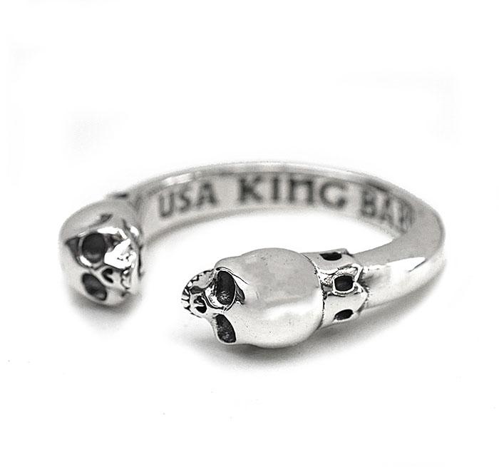 KING BABY 〔キングベイビー〕リング K20-5966 Open Ring with Skulls