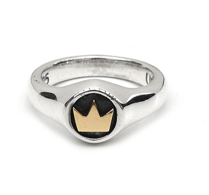 KING BABY 〔キングベイビー〕リング K20-7500 Small Crown Ring with Gold Alloy