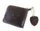 HTC SUNSET L-zip Wallet Flower Cowhide #1 TQS N / D Brown