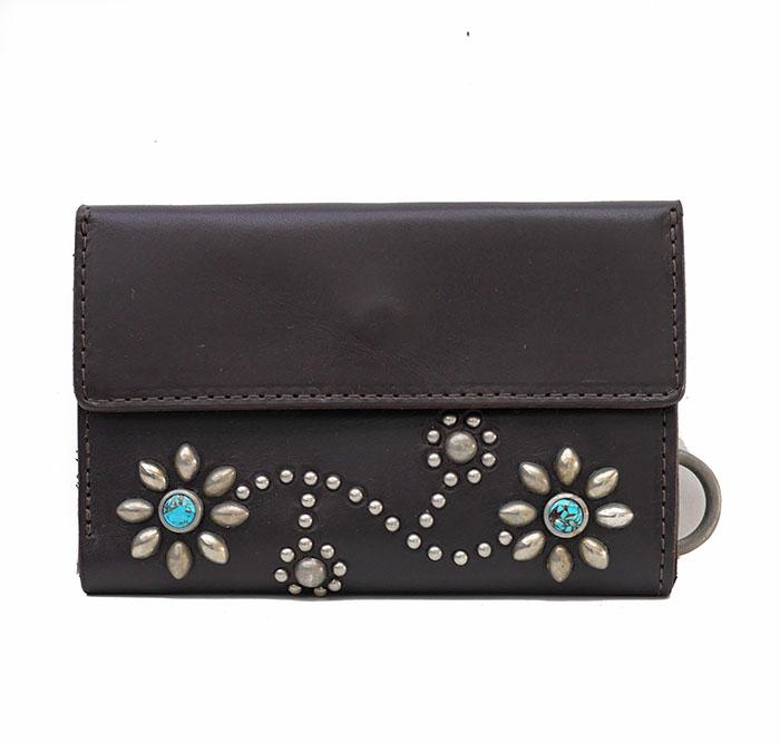 HTC SUNSET Short Wallet Flower TQS N / D Brown