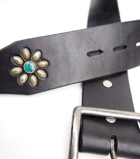 HTC Belt End Only Flower Buckle #7 TQS N / Black