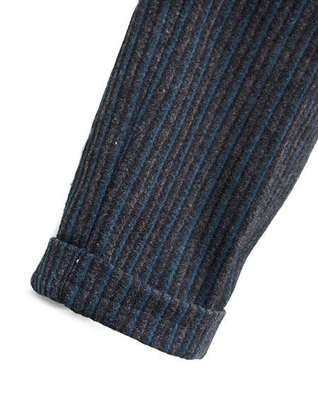 PANTY Original Vintage Remake Tapered Slacks / Grey Stripe