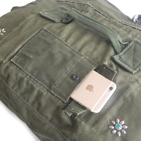 IrregulaR by ZIP STEVENSON Vintage Military Shoulder Bag #10 / Khaki