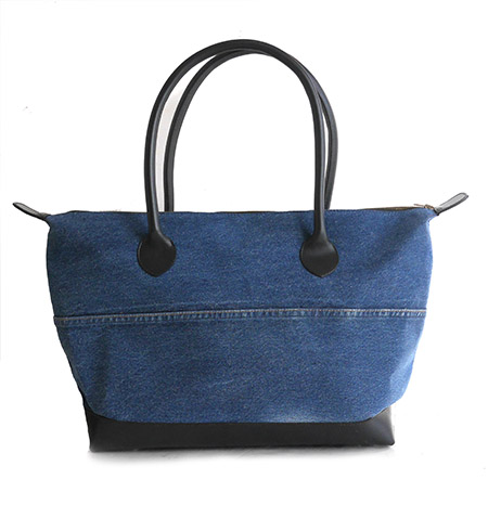 HTC 〔エイチティーシー〕  バッグ 別注 Vintage Remake Denim Patch Tote Bag