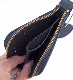 HTC SUNSET L-zip Wallet Flower Cowhide #1 TQS N / Black