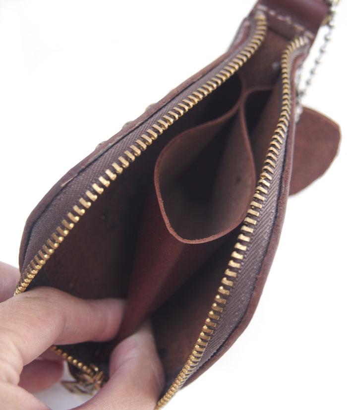 HTC SUNSET L-zip Wallet Flower Cowhide #1 TQS B / Brown