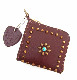 【予約受付】HTC SUNSET L-zip Wallet Flower Cowhide #1 TQS B / Brown