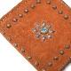 HTC L-zip Wallet Flower Suede #1 TQS B / Camel