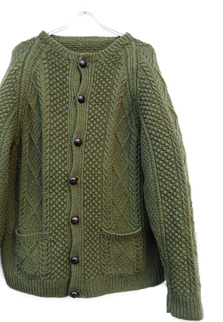 1970〜80s Vintage Hand Made Fisherman Cardigan