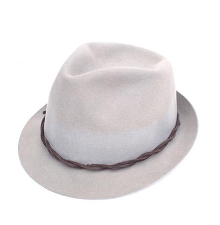 """Vintage """"AURUM"""" Wool Felt Hat / Grey"""