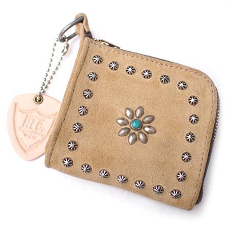 HTC L-zip Wallet Flower Suede #1 TQS N / Beige