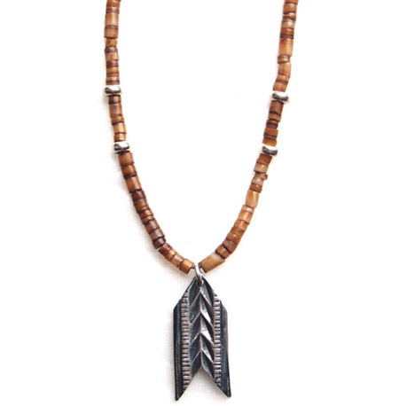 CHAFF DESIGN〔チャフ・デザイン〕Arrow Plate Shell Beads Necklace