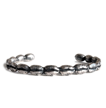CHAFF DESIGN〔チャフ・デザイン〕Coffee Beans Silver Solid Bangle