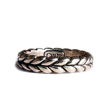 CHAFF DESIGN〔チャフ・デザイン〕Silver Slim Wheat Ring