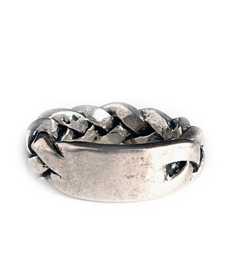 CHAFF DESIGN〔チャフ・デザイン〕Silver Leather Woven Ring