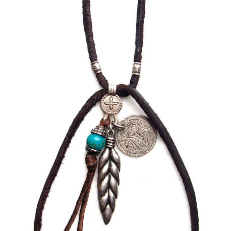 CHAFF DESIGN〔チャフ・デザイン〕Wheat & Native Turquoise Necklace