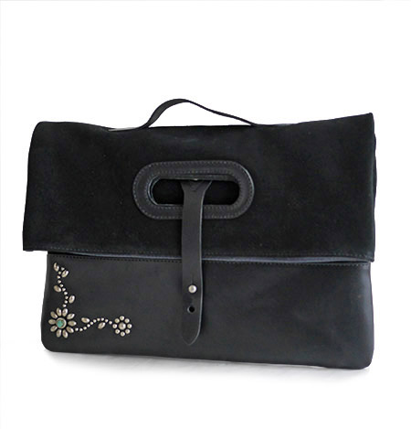 HTC Clutch Bag 2way Suede TQS N / Black