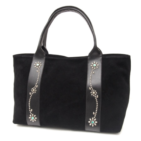 HTC SUNSET Tote Bag Flower Suede #2 TQS N / Black