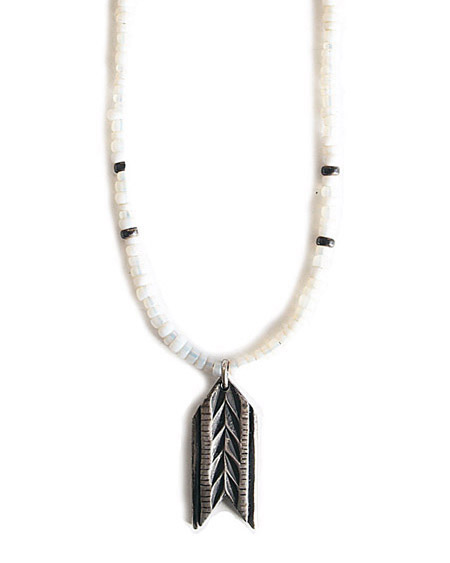 CHAFF DESIGN〔チャフ・デザイン〕Arrow Plate African Beads Necklace