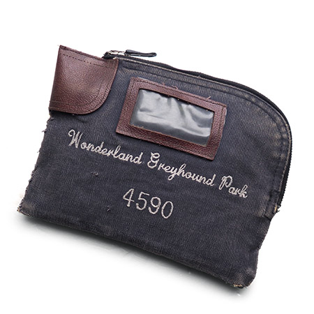 """Vintage Remake Dog Race Money Clutch Bag / Navy""""4590"""""""