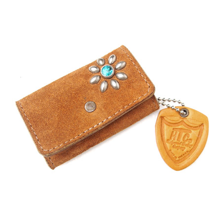 HTC Key Case Flower Suede #2 TQS N / Camel