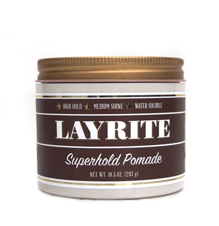 "LAYRITE 〔レイライト〕DELUXE POMADE ""10.5 oz"" / SUPER HOLD"