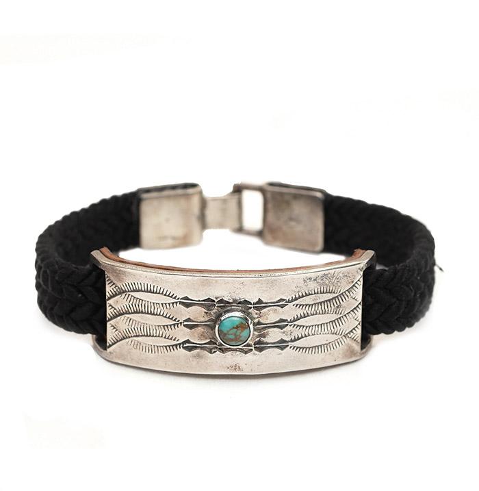 CHAFF DESIGN〔チャフ・デザイン〕Braid Plate On Turquoise black