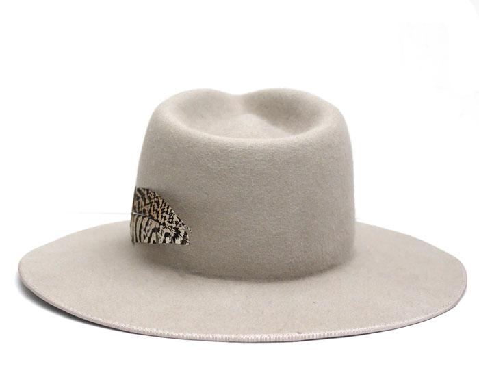 SATYA TWENA [サティア トゥエナ] Feather Natural Hat