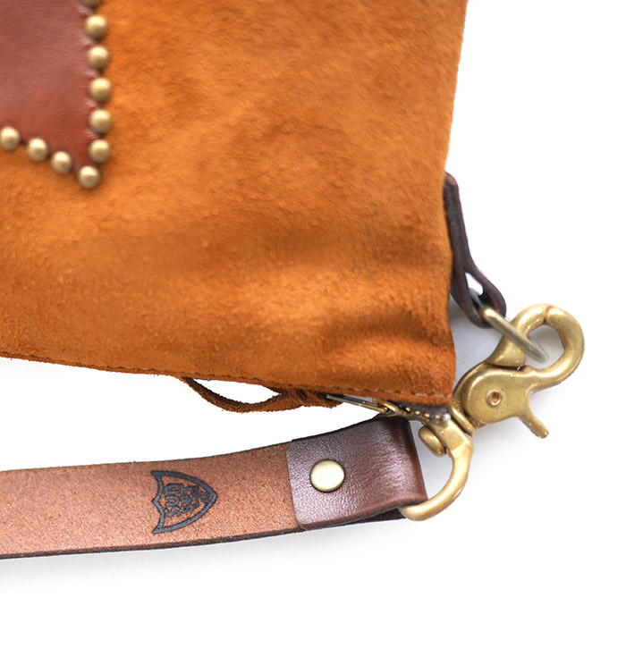HTC SUNSET 3Way Shoulder Bag Emblem / Camel