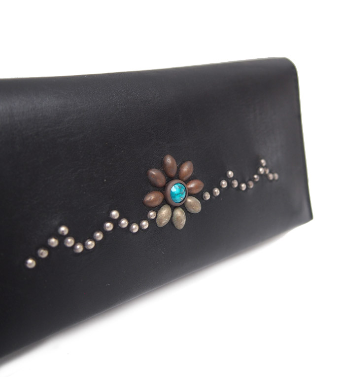 【予約受付】HTC SUNSET Long Wallet Flower Wave #8 TQS MIX / Black