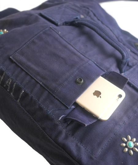 IrregulaR by ZIP STEVENSON Vintage Military Shoulder Bag #14 / Navy