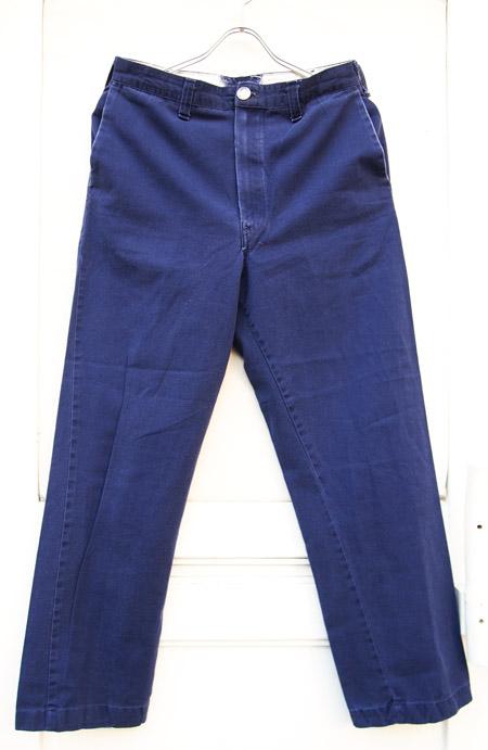 HTC DENIM DOCTORS 〔エイチティーシー・デニムドクターズ〕 パンツ Vintage Remake Cotton Work Pants / Navy�