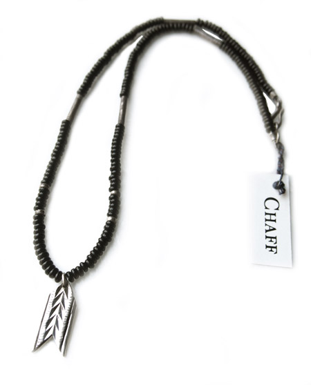 CHAFF DESIGN〔チャフ・デザイン〕Arrow Plate Onix Beads Necklace