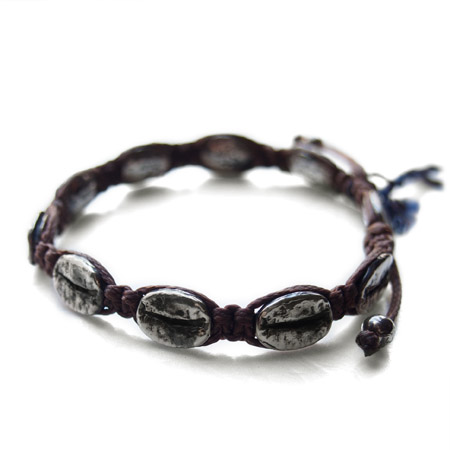 CHAFF DESIGN〔チャフ・デザイン〕Coffee Beans Woven Cord Bracelet