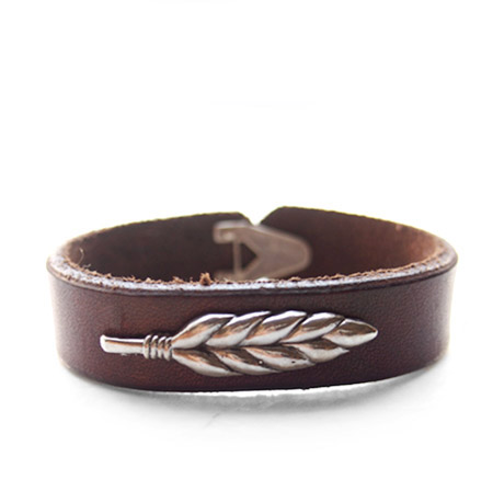 CHAFF DESIGN〔チャフ・デザイン〕Leather On Large wheat Bracelet