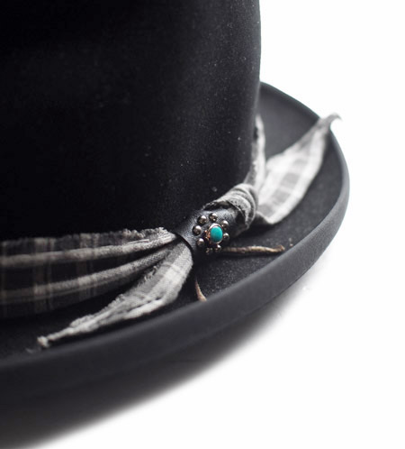 CHAFF DESIGN〔チャフ・デザイン〕 Vintage Remake Custom Wool Felt Hat / Black