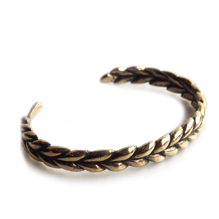 CHAFF DESIGN〔チャフ・デザイン〕Wheat Brass Solid Bangle