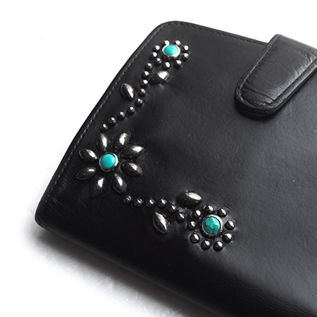 "PANTY Original Design ""OLD COACH"" Vintage Remake Studs Leather Wallet / �"
