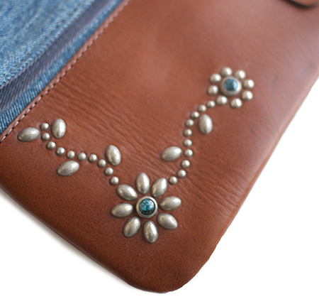 HTC Clutch Bag 2way Denim TQS N / Brown