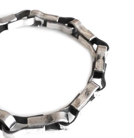 CHAFF DESIGN〔チャフ・デザイン〕Silver Chain Loop Bracelet / Slim