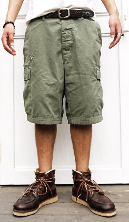 HTC 〔エイチティーシー〕 パンツ VINTAGE REMAKE CARGO SHORT PANTS   ON STUD