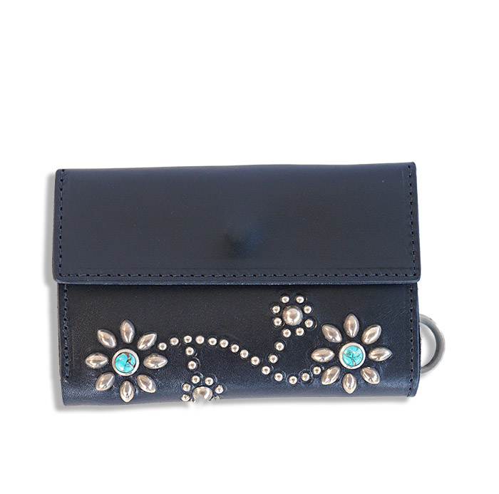 HTC SUNSET Short Wallet Flower TQS N / Black