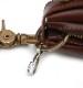 HTC SUNSET Zipper Key Case Flower #4 TQS B / Brown