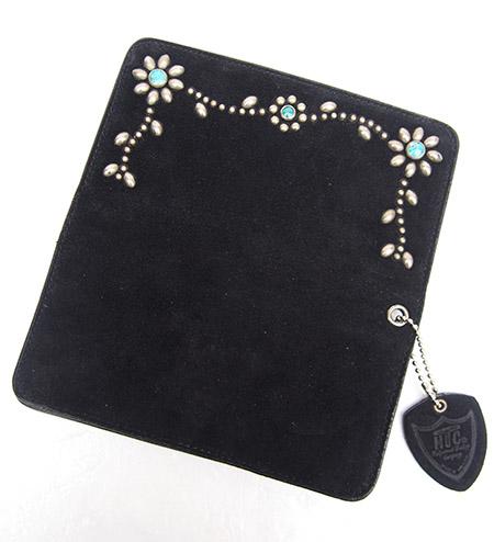 HTC Long Wallet Flower Suede #5 TQS N / Black