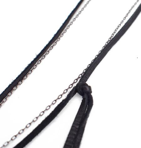 M.Cohen 〔エムコーエン〕 ネックレス PANTY オリジナルカスタム クロス&シェル / ブラック
